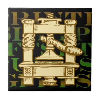 Printing Press Ceramic Tile