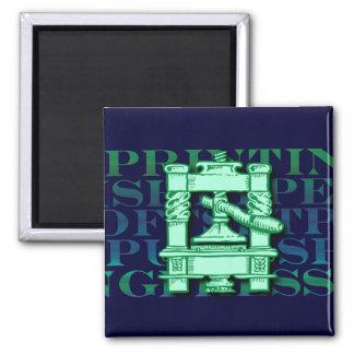 Printing Press Magnet