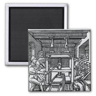 Printing press refrigerator magnets