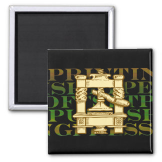 Printing Press Fridge Magnet