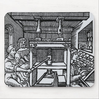 Printing press mouse pad