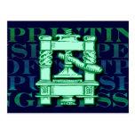 Printing Press Post Card
