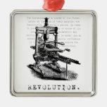 Printing Press = REVOLUTION! Christmas Tree Ornaments