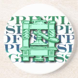 Printing Press Sandstone Coaster