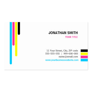 Printing Services CMYK Colors business card