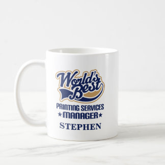 Printing Services Manager Personalized Mug Gift
