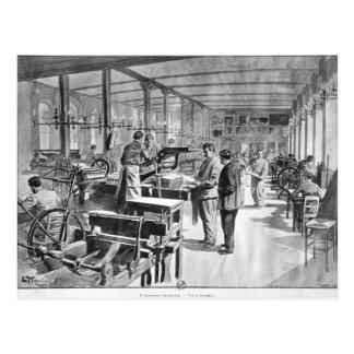 Printing the banknotes postcard