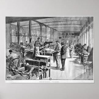 Printing the banknotes poster