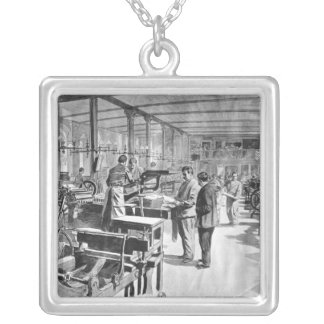 Printing the banknotes silver plated necklace