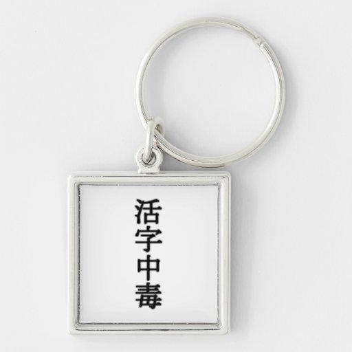 Printing type poisoning (book addict) keychains