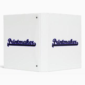 Printmaker Classic Job Design Vinyl Binder