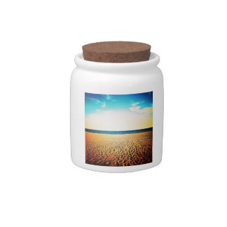 Prints in the Sand Candy Jars