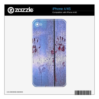Prints on Blue Metal Skins For The iPhone 4