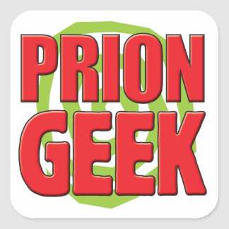 Prion Geek Square Stickers