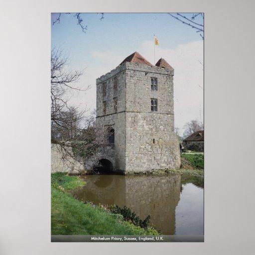 Priorato de Mitchelum, Sussex, Inglaterra, Reino U Poster