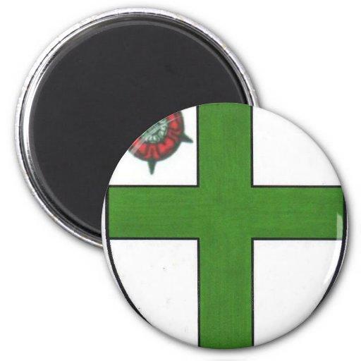 Priorato magnífico de Inglaterra Imán Redondo 5 Cm
