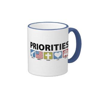 Prioridades del GOP Taza A Dos Colores