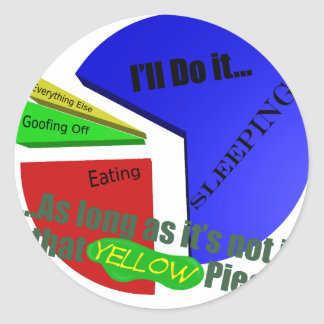 Priorities Pie Classic Round Sticker