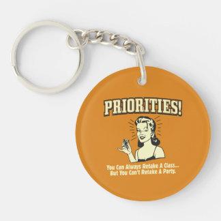 Priorities: You Can Always Retake a Class Keychain