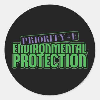 Priority #1 classic round sticker