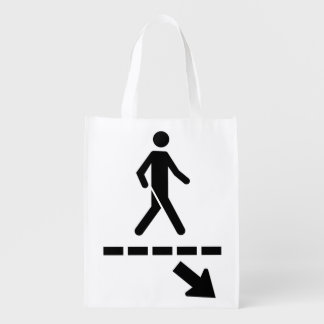 priority Bag-panel Passage to the pedestrians Grocery Bag
