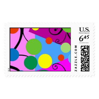 Priority Mail Carnival Postage Stamps