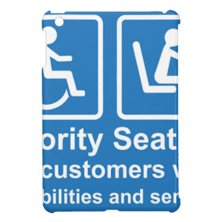 Priority Seating for customers with disabilities a iPad Mini Cases