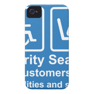 Priority Seating for customers with disabilities a iPhone 4 Cover