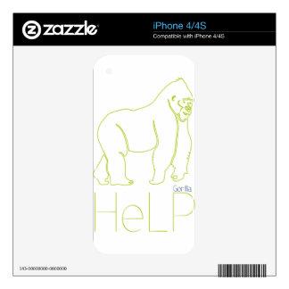 Priority species Gorilla Skins For iPhone 4