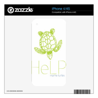 Priority species Marine turtles Decal For The iPhone 4S