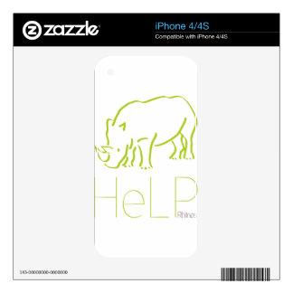 Priority species Rhinos iPhone 4S Skin
