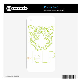 Priority species Tiger Skins For iPhone 4