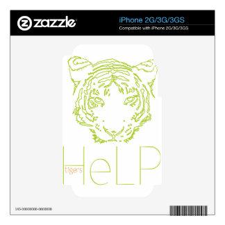 Priority species Tiger iPhone 2G Decal