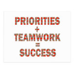PRIORITY Teamwork Success Wisdom LOWPRICE GIFTS Post Card