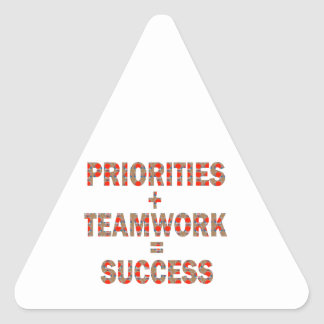 PRIORITY Teamwork Success Wisdom LOWPRICE GIFTS Triangle Sticker