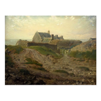 Priory at Vauville, Normandy by Jean Millet Postcards