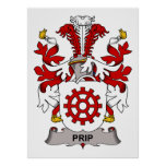 Prip Family Crest Posters