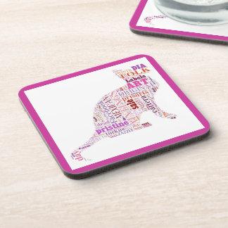 Prisarts Cat  Whimsical  Coasters