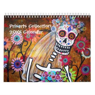 PRISARTS COLLECTION CALENDAR 2012 DAY OF THE DEAD WALL CALENDAR
