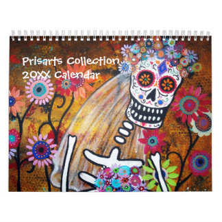 PRISARTS COLLECTION CALENDAR 2012 DAY OF THE DEAD WALL CALENDAR