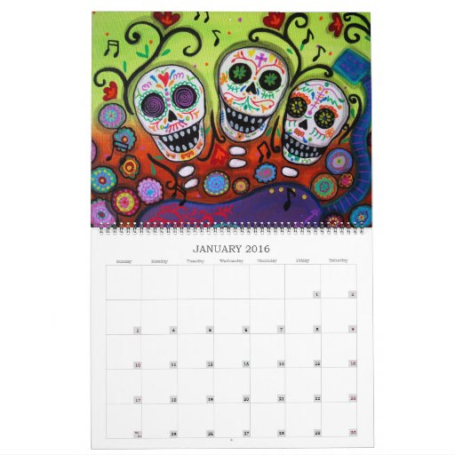 PRISARTS DAY OF THE DEAD COLLECTION 2012 CALENDAR