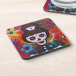 Prisarts Day of the Dead Nurse Coasters Coasters