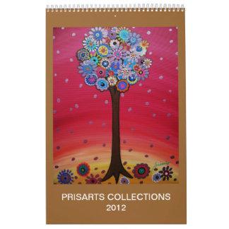 PRISARTS TREE OF LIFE PAINTINGS CALENDAR 2012