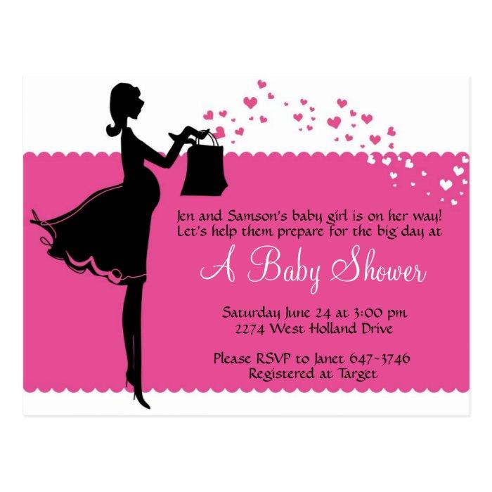 Priscilla Baby Shower Invitation Postcard