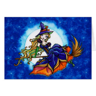 """Priscilla"" Halloween Witch Fantasy Fairy Card"