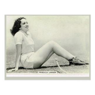 Priscilla Lawson Postcard