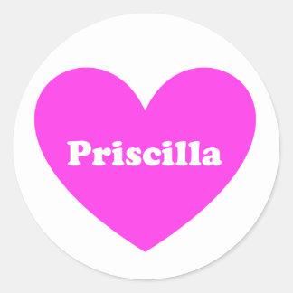 Priscilla Pegatina Redonda
