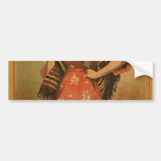 Priscilla teatro retro de la querube pegatina de parachoque