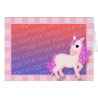 Priscilla the Pink Pony Photo Frame Style Card