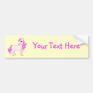Priscilla the Pink Princess Pony Bumper Sticker